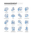 line people management icons vector image
