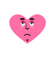 love sad emoji heart unhappy emotion isolated vector image