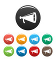 megaphone with handle icons set color vector image