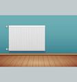 metal heating radiator in room vector image vector image