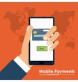 Mobile payment design vector image vector image