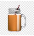 orange smoothie mockup realistic style vector image