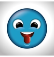 playful emoticon tongue out icon vector image