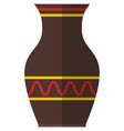 pottery vase isolated on white background vector image