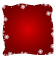 red winter abstract background vector image vector image