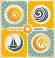 Retro summer holiday poster vector | Price: 1 Credit (USD $1)