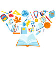 school background with education items vector image vector image