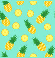 seamless pattern with pineapples pineapple and vector image vector image