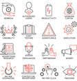 set icons related to business management - 11 vector image vector image