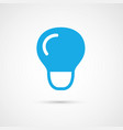 single color light bulb vector image vector image