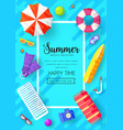 summer vecetion time brochure cards se vector image