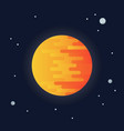 sun on space background vector image