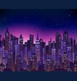 sunset cityscape background vector image