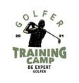 t shirt design golfer 2021 training camp vector image