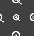 target icon sign Seamless pattern on a gray vector image vector image