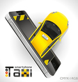 Taxi Smartphone vector image vector image