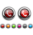 Telephone button vector image