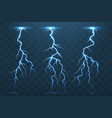 thunder bolt and lightnings thunderstorm vector image vector image