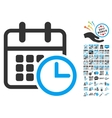 Timetable Icon With 2017 Year Bonus Pictograms vector image vector image