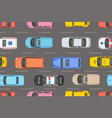 top view of colorful cars seamless pattern vector image vector image
