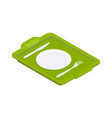 tray isometric icon vector image