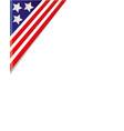 usa flag border corner vector image