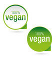 vegan product label sign green vector image vector image
