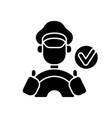 verified drivers black glyph icon vector image