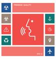 voice control person talking - icon elements vector image vector image
