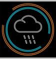 weather storm sun rain symbol vector image