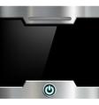 Futuristic black screen vector image
