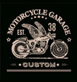 morotcycle custom banner vector image