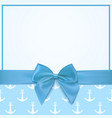 Blank greeting card template for a boy vector image