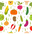 Seamless pattern with vegetables Cute background vector image