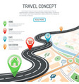 travel and navigation concept vector image