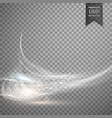 abstract white transparent light effect background vector image vector image