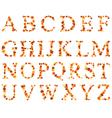 alphabet autumn set vector image