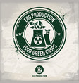 alternative eco production stamp vector image