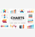 arrows infographic diagram chart graph vector image vector image
