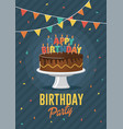 birthday greeting and invitation card vector image vector image
