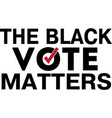 black vote matters isolated on white vector image vector image