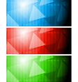 Bright tech banners vector image vector image