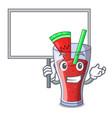 bring board character tasty beverage fruit vector image vector image