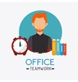 Business office and human vector image vector image