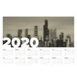 calendar template 2020 vector image