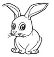 cartoon cute rabbit coloring page vector image