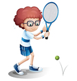 Cartoon Tennis Boy vector image vector image
