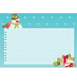 christmas background with empty blank for text vector image vector image