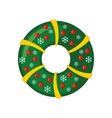 Christmas Wreath icon in flat style vector image