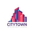 city town - real estate logo template vector image